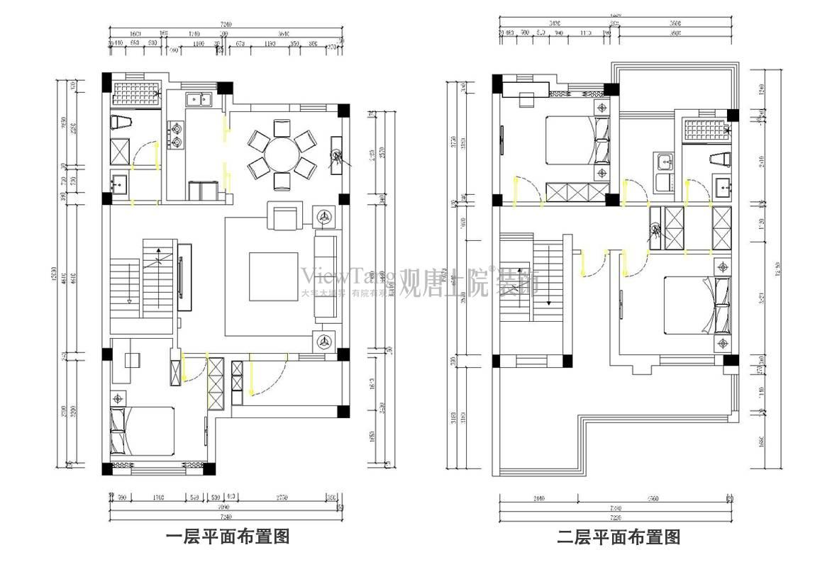 碧桂园玲珑湾121平户型平面布置图
