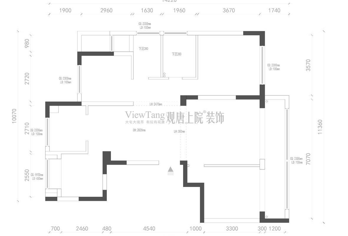 玉兰西花园三期130㎡原始结构图
