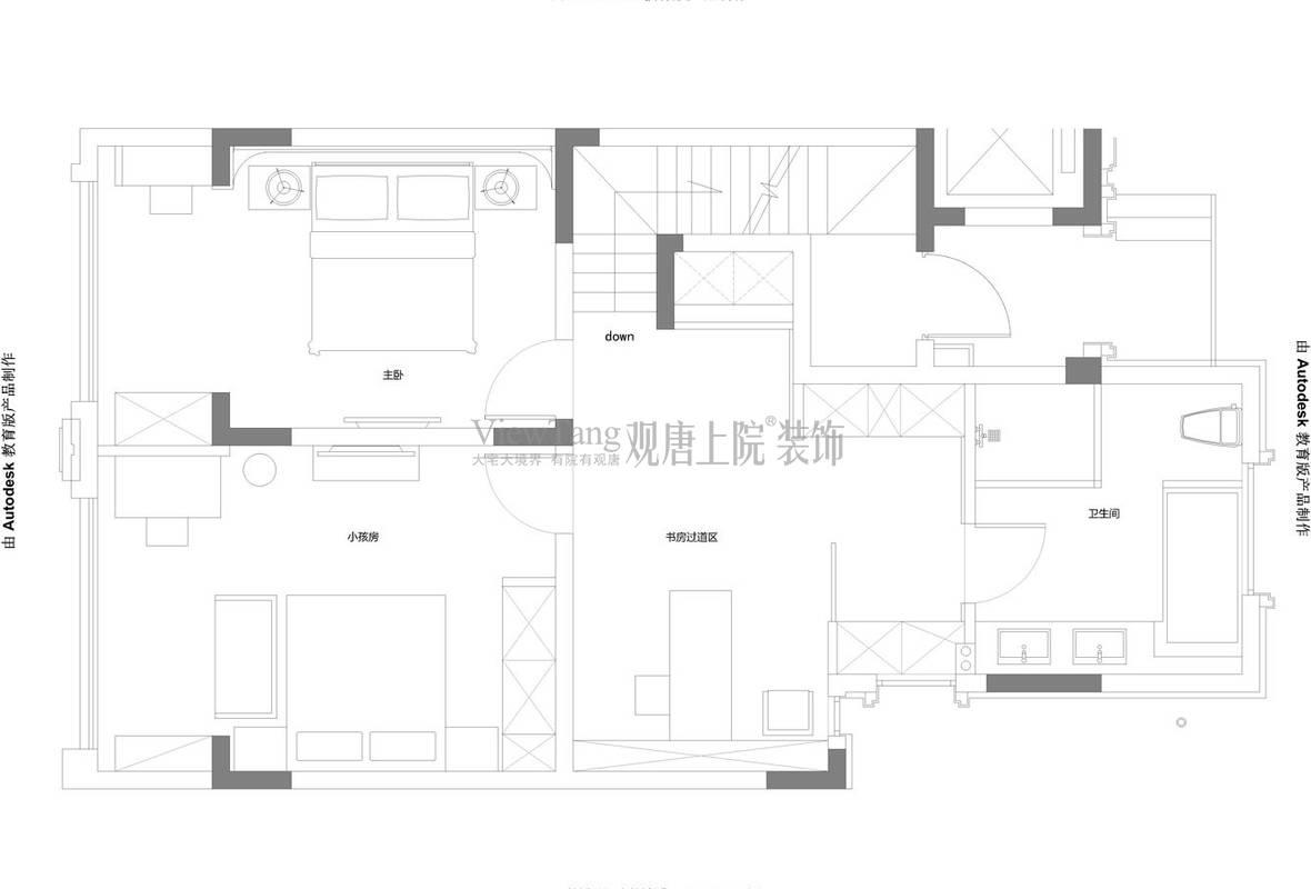 万科氿麓城二层平面布置方案